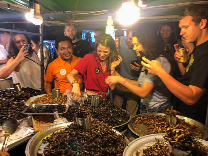 Cambodia - Skjodt Family Trip - Eat The Bugs Siem Reap @Jo Aigner