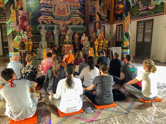 Cambodia - Skjodt Family Trip - Monk Blessing Siem Reap @Jo Aigner